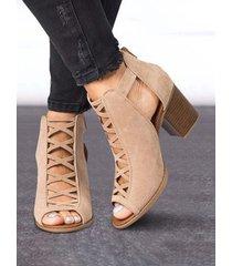 scarpe décolleté con punta aperta in pelle scamosciata casual di grandi dimensioni con design a cinturino incrociato con