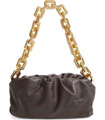 bottega veneta the chain pouch leather shoulder bag - brown