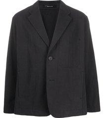 issey miyake relaxed tailored blazer - black