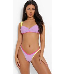 bikini top met volle cups, naad detail en beugel, lilac