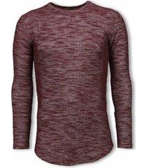 sweater â© man gemeleerde long fit