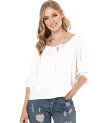 blusa amatti blanco ragged pf11112176