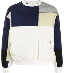 gr-uniforma short patchwork sweatshirt - white