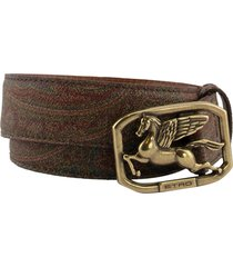 etro belt with pegaso buckle