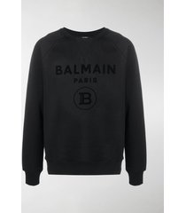 balmain logo-print raglan sweatshirt