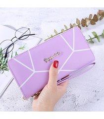 gran capacidad cartera para mujer/ monedero hembra-púrpura