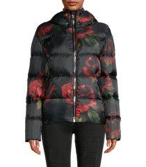 nicole benisti women's reversible down puffer jacket - python - size l