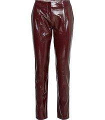 2nd dean leather leggings/byxor röd 2ndday