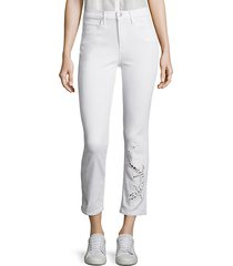 sally salamander cutout cropped straight-leg jeans