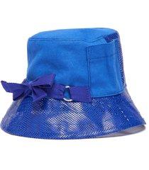 bow mesh bucket hat