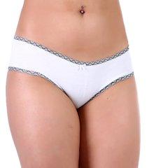calcinha mardelle cueca branco - kanui