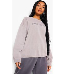 oversized overdye stockholm sweater, stone