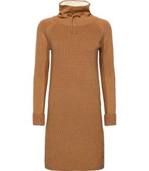dresses flat knitted knälång klänning brun edc by esprit