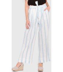 pantalón wados list lino beige - calce holgado