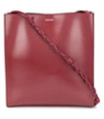 jil sander bolsa tiracolo tangle - vermelho