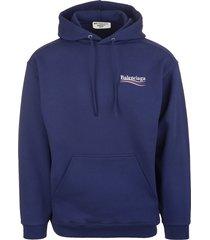 balenciaga unisex blue political campaign oversize hoodie
