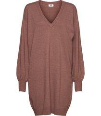 objlisette l/s knit dress 113 kort klänning brun object