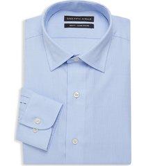 saks fifth avenue men's slim-fit pinstriped dress shirt - blue - size 16 34