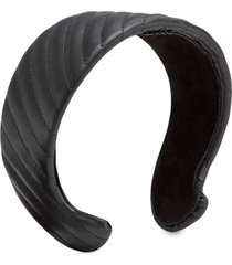fendi wide quilted headband - black