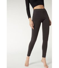 calzedonia thermal leggings woman grey size s