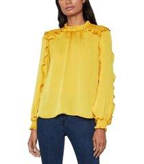bcbgmaxazria smocked long sleeve blouse
