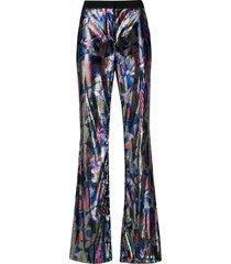 emilio pucci sequin flared trousers - multicolour