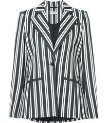 acagia belted striped blazer