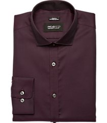 awearness kenneth cole burgundy extreme slim fit shirt