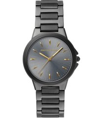 rebecca minkoff women's cali gray pvd stainless steel bracelet watch 34mm