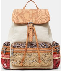 backpack boho patch - brown - u