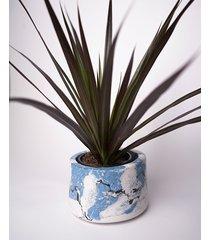niebiesko biała doniczka maria druga 9,5 cm