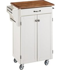 home styles cuisine cart with oak top