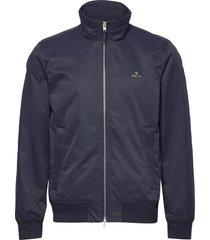 d1. hampshire jacket dun jack blauw gant