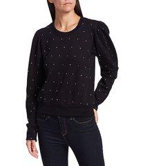 saunders embellished sweatshirt