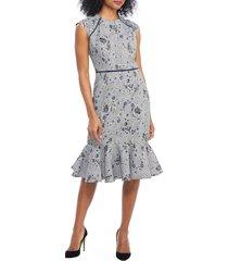 women's maggy london plaid rose dress
