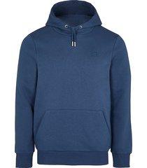river island mens blue ri muscle fit hoodie