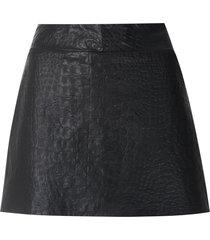 andrea bogosian respect leather skorts - black