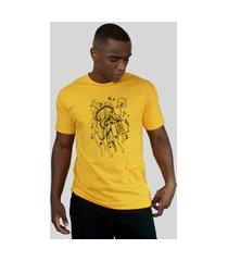 camiseta bleed american free hugs amarelo