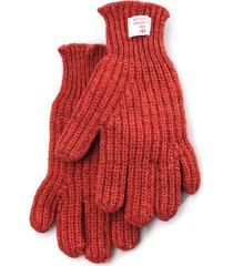 nigel cabourn ribbed goalie gloves | vintage orange | ncglv-orn