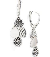 women's lagos caviar tiered drop earrings