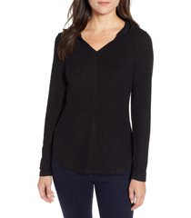 women's bobeau sweater hoodie, size medium - black
