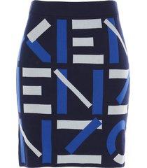 kenzo monogram skirt