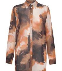 tua blur shirt overhemd met lange mouwen multi/patroon mos mosh