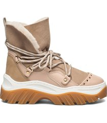 inuikii sneaker trekking shoes boots ankle boots ankle boot - flat beige inuikii