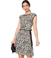 vestido animal print exss. leopardo