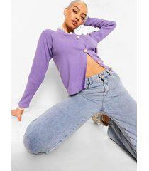 grote trui met hoge kraag en gebreide ballonmouwen, lilac
