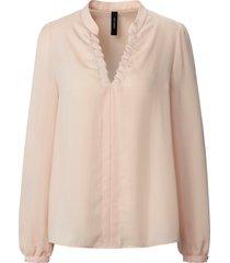blouse lange mouwen van marc cain lichtroze