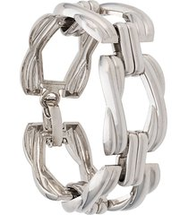 christian dior 1980/1990's pre-owned chunky chain bracelet - silver