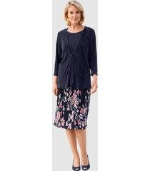 plisserad kjol paola marinblå::aprikos::benvit