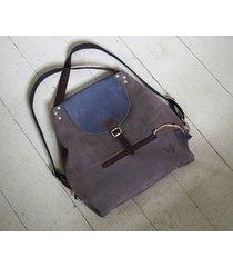 plecak/torba 2w1 jasny granat i szarość
